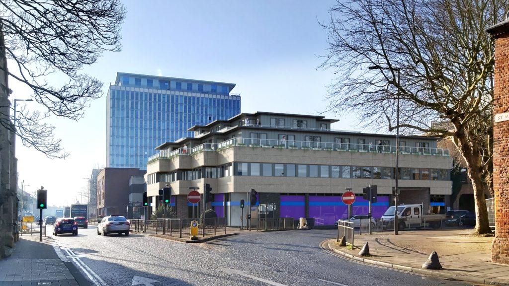 Photomontage CGI Bedford U.K. Apartments Planning Permission