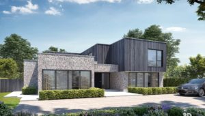 Architectural Visualisation Exterior CGI for Modern House Property Norfolk